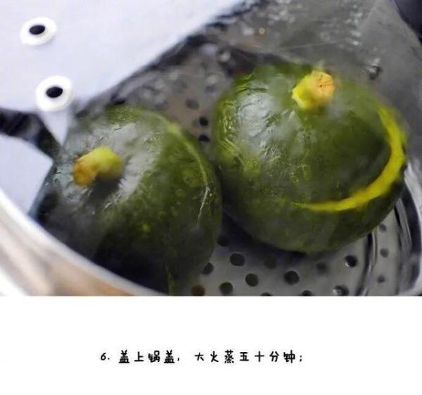 【红豆糯糯南瓜盅】粗食可以适当调节日渐脆弱的肠胃,煮至绵软香