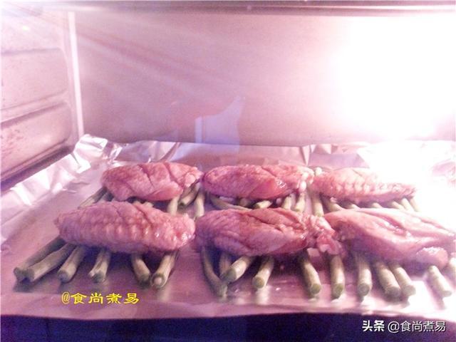 教您一招烤鸡翅,简单又营养,荤素一盘端,香软嫩滑好吃到爆