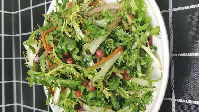凉拌苦菊的做法,营养健康清香回甘,清热解暑,夏天爽口小凉菜