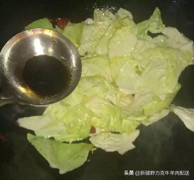 新疆名菜炝莲白,3分钟学会,受用30年